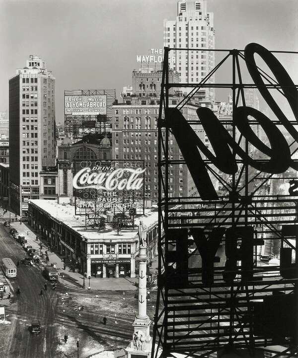 Columbus Circle, New York by Berenice Abbott