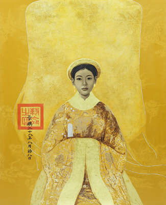Curated yellow artworks: Royal Lady I by Bui Huu Hung