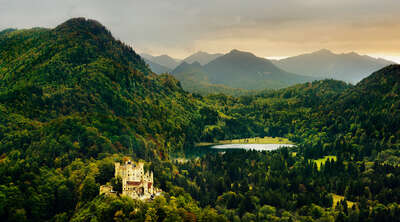 curated mountain artworks: Hohenschwangau by Berthold Steinhilber
