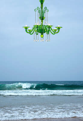 Beach Wall art with LUMAS: Green Sea, Cantabria  by Ciuco Gutiérrez