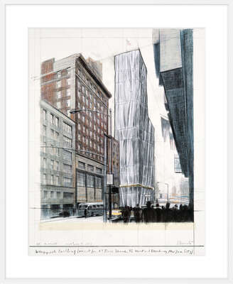 Wrapped Building, Project for #1 Times Square by Christo