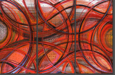 Curated abstract red artworks: Omnipresent  by Christopher Martin