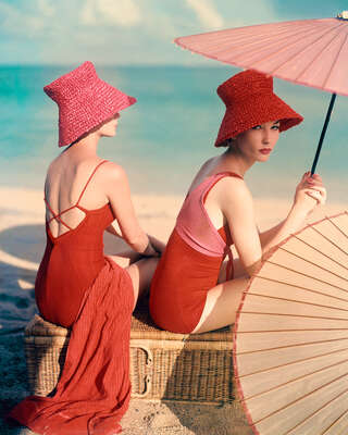 Red Parasol by Louise Dahl - Wolfe