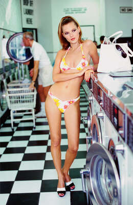 Kate at the Laundrette by Arthur Elgort