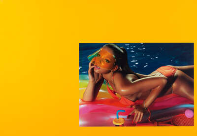 Fashion Wall Art:  Tan Lines #5 by Miles Aldridge