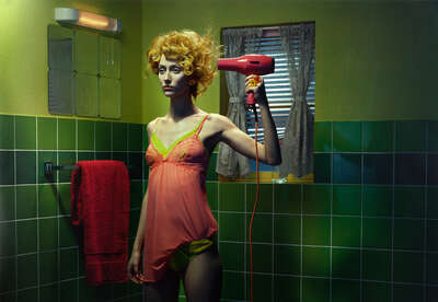 Fashion Wall Art:  Chromo Thriller #3 by Miles Aldridge