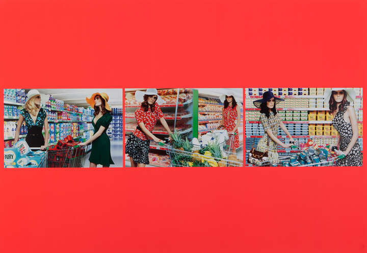 First Impression #1, 2, 3 - Triptych  von Miles Aldridge