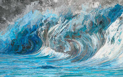 Impressionism Pictures: Genevieve's Wave by Matthew Cusick