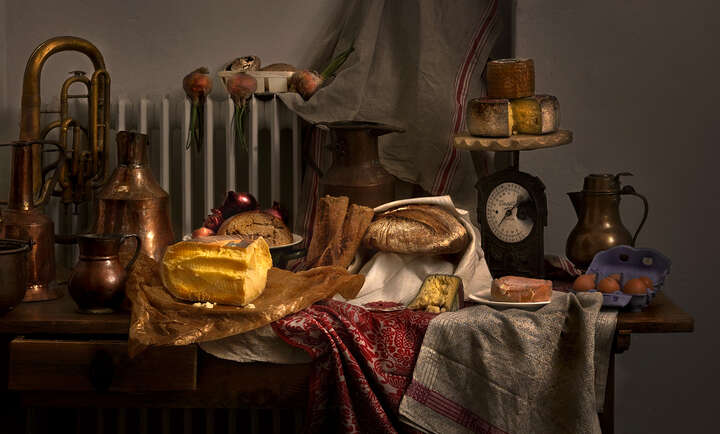 Still life with cheese by Mark Seelen