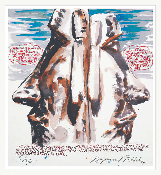 Ohne Titel (Nature is Dumb) von Raymond Pettibon