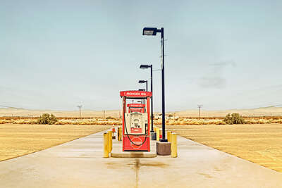Curated pastel artworks: Petrol Pump by Sarah Johanna Eick