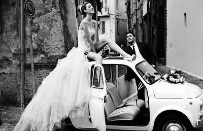 curated black and white art: Italian Wedding II by David Burton | Trunk Archive