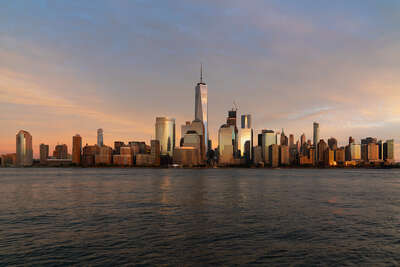 Cities Architectural Prints: NYC Sunset Gold by Armand Dijcks