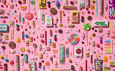 Curated pink artworks: Candy Study by Adam Voorhes