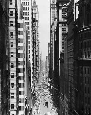Lower Broadway, New York by Andreas Feininger