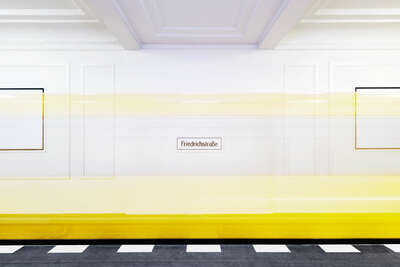 Curated yellow artworks: Friedrichstraße I by Annika Feuss