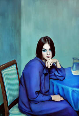 Curated blue portraits: Blue Girl by Andrey Yakovlev & Lili Aleeva