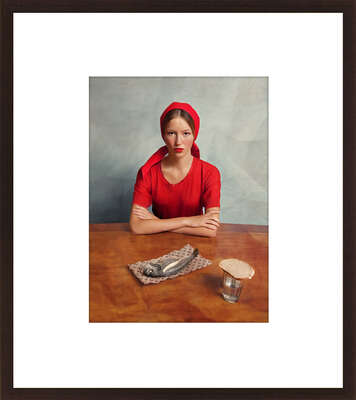Kitchen Wall Art: Girl with a Fish by Andrey Yakovlev & Lili Aleeva