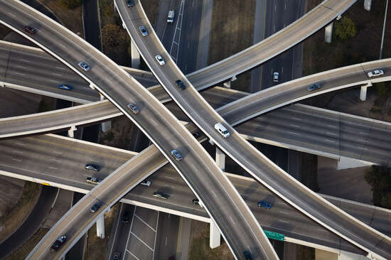 Inverted Cloverleaf interchange RT1 and RT183, Austin, Texas