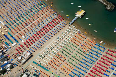 Adriatic Coast, Cattolica, Italy by Alex Maclean