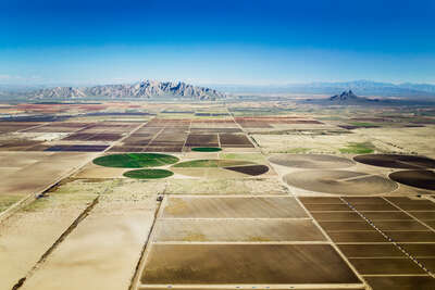 curated aerial photography : Eloy, Arizona, USA by Alex Maclean