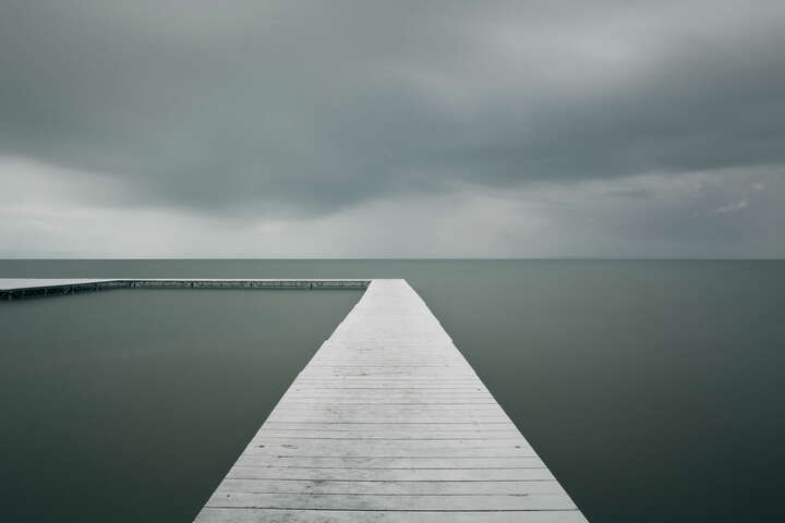 White Pier by Akos Major