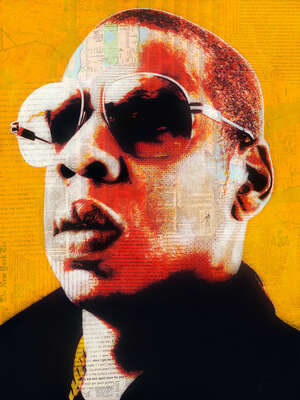 Celebrity Art:  Jay-Z by André Monet