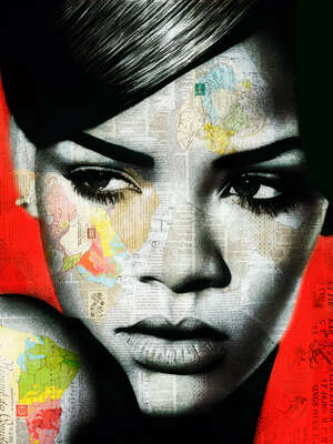Abstract Wall Art  Rihanna by André Monet