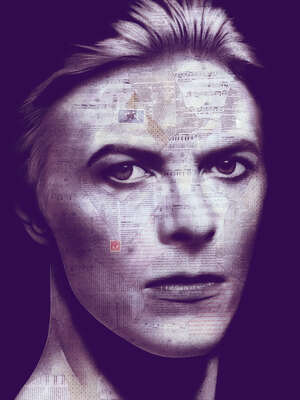 David Bowie Art: David II by André Monet