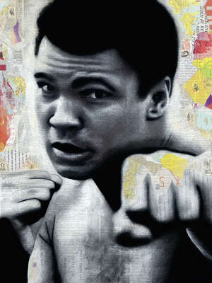 Sports wall art, Muhammad Ali:  Ali by André Monet