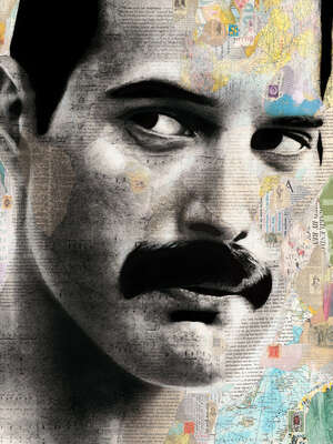 Pop Art prints: Freddie by André Monet