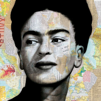 figurative art:  Frida by André Monet
