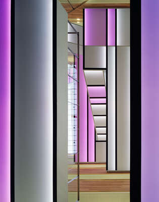 curated stair artworks: Violet view by Adam Mørk