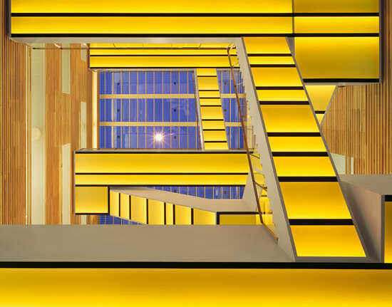 Staircase yellow