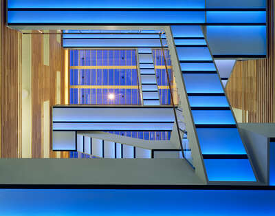 Bauhaus picture: Staircase blue by Adam Mørk