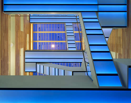 Staircase blue