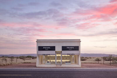 avant garde and fine art photography: Prada Marfa  8:36PM by Adam Mørk