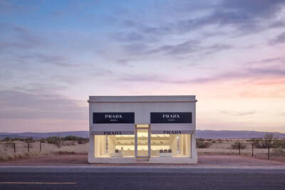 Art Prints: Fashion Photography Prada Marfa 8:48PM by Adam Mørk