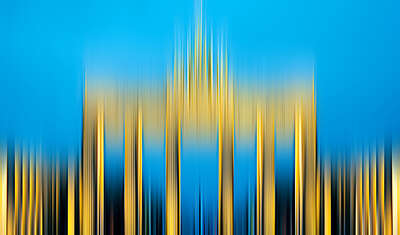 Curated abstract yellow artworks: Brandenburger Tor by Anja Neudert