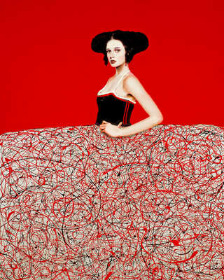 Curated red artworks: Menina Roja by Alfredo Palmero