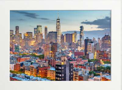 Downtown NYC at Dawn von Art Now Collection