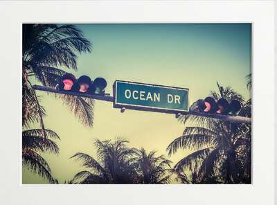 Ocean Drive, Miami by Art Now Collection
