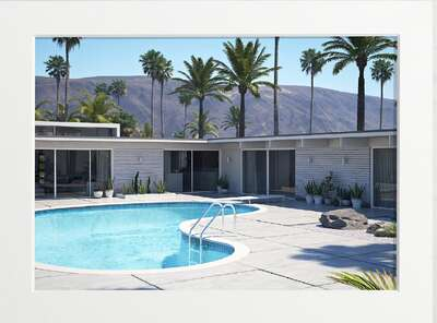 Palm Springs Pool von Art Now Collection