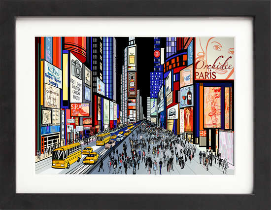 Night Time in New York Times by Art Now Collection