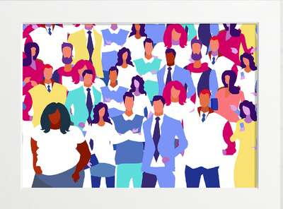 figurative art:  Stand Together by Art Now Collection
