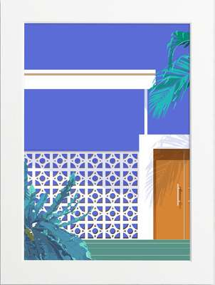 Block House Front Door by Art Now Collection