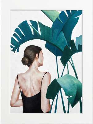 figurative art:  Portrait with Plant by Art Now Collection
