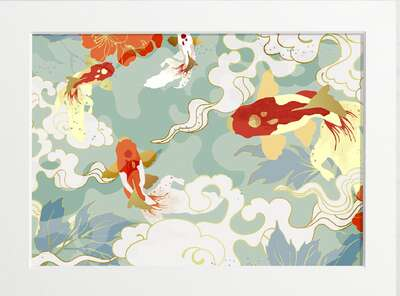 Japanese Koi by Art Now Collection