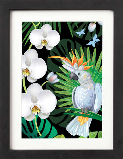 Tropical Jungle (White Cockatoo) by Art Now Collection