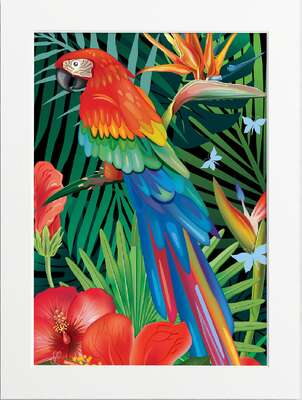 Tropical Jungle (Scarlet Macaw) by Art Now Collection